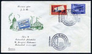 11 Kasım 1957 – İstanbul II. Filatelik Sergisi Sürşarjlı Hatıra Pulu