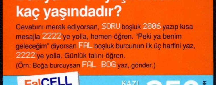 Turkcell Hazır Kart 6. Emisyon (250 Kontör Kartlar)